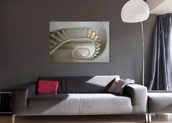 "SPIRAL cotton fabric print with archival matt varnish, 1.5"" gallery wrap with painted edge                      : art work selections : PHOTOGRAPHIC ARTIST SUSAN POINDEXTER"
